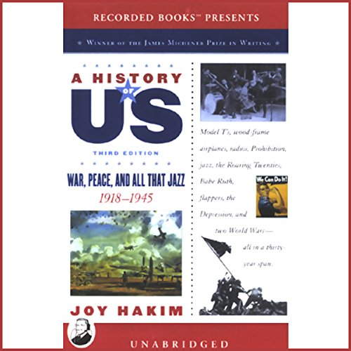 War, Peace, and All That Jazz, 1918-1945, A History of US, Book 9  cover art