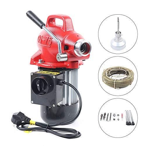 Rohrreinigungsmaschine Rohrreinigungsgerät 400W 20-100mm Profi Rohrreiniger Rohrabflussreiniger Auger Rohrreinigung mit Spiralen