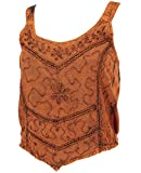 Guru-Shop, Top bordado Boho Chic, Hippie Top, Sintético, Talla 12, Tops y Camisetas