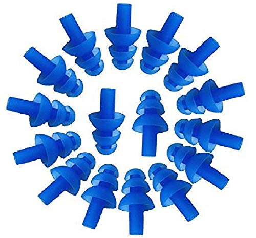 50 Pairs Soft Silicone Reusable Washable Ear Plugs NRR 32dB for Sleeping Swimming Noise Hearing Protection Earplugs Music Concerts Construction Shooting Hunting Motor Sports