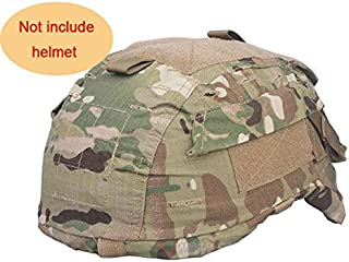 H World Shopping Tactical Military Airsoft Hunting Helmet Cover W/ Back Pouch for MICH 2001 Multicam MC