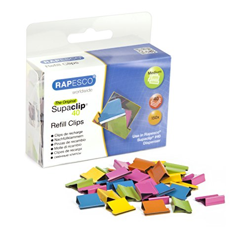 Rapesco Supaclip #40 Refill Clips [Pack of 150]