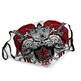 YILINGER Mens Womens Mouth Mask Face Field Gothic Design Template Which is Great As Vintage Shirts