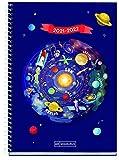 Miquelrius - Agenda Septiembre 2021 Junio 2022 – Semana Vista, Tamaño 15 x 21,3 cm,Bilingüe: Español Inglés, Planetas,...