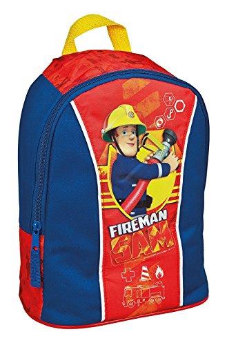 Kinder Rucksack - kompatibel mit Fireman Sam - Feuerwehrmann Sam - Kinderrucksack - mit 1 Hauptfach