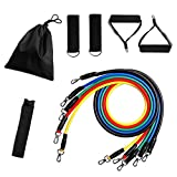 Bandas de resistencia elástica 11pcs / set Yoga Pull Rope Fitness Workout Sports Bands Yoga Rubber Tensile Pull Rope Expander Gum