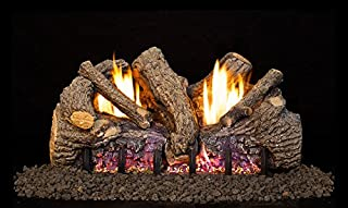Peterson Real Fyre 18-inch Foothill Oak Log Set With Vent-free Natural Gas Ansi Certified G19 Burner - Basic On/Off Remote