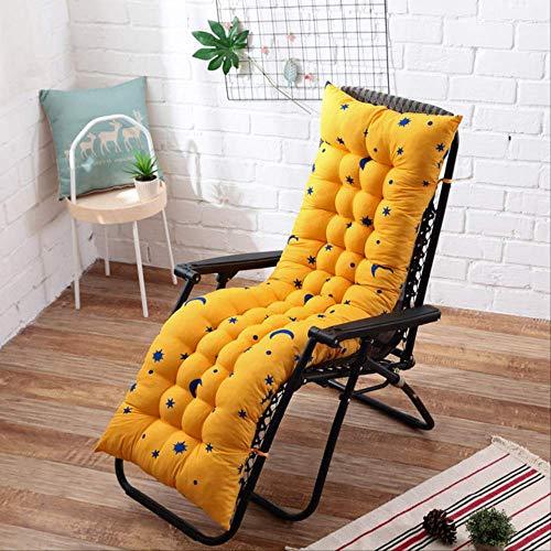 NoNo Lang kussen Recliner schommelstoel kussen dik zitkussen rotan stoel sofakussen tuinstoelkussen tatami mat 40x110cm geel