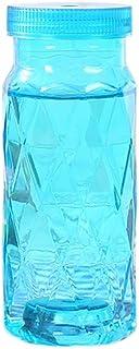fancylande botella bebida botella vidrio botella Infusion botellas transparentes botella de agua portátil botella botella de bebida luminosa zumo de plástico 360ml, azul