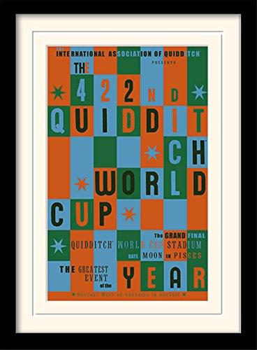 Stampa incorniciata e montata su cornice di Harry Potter 'Quidditch World Cup', 30 x 40 cm