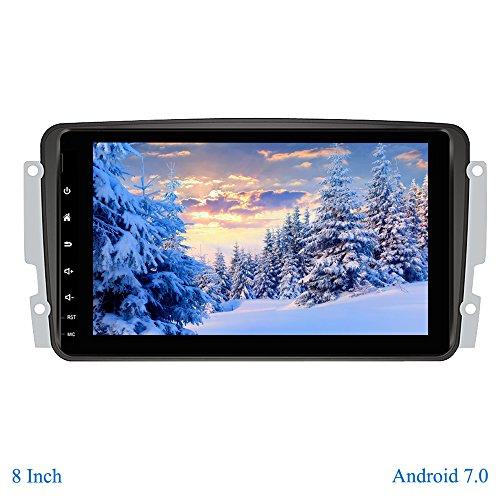 XISEDO Android 7.1 Autoradio 8 Pulgadas Radio de Coche RAM 2G Car Radio Navegación de Automóvil con Pantalla Táctil 8' para Mercedes-Benz CLK W209/ C Class W203/ Viano/Vito/ Vaneo/A-Class (Autoradio)