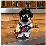 Disfraz de guitarra para perro, de Delifur, para Halloween, Navidad, cosplay, fiesta de disfraces, ropa de fiesta de disfraces, talla L