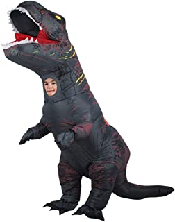 WEN-mask Halloween Dinosaur Inflatable Clothing, Party Role Playing, Children's Style (Color : Black)