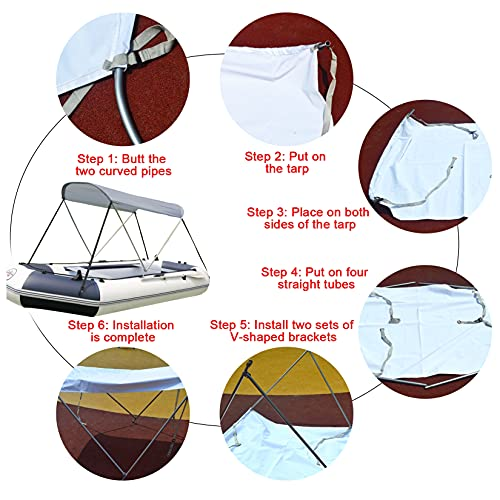 Bimini Boat Top Covers for Inflatable Boats Installation