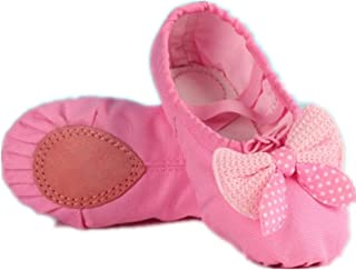 A-LING Ballet Shoes for Girls Flats Leather Dance Shoes