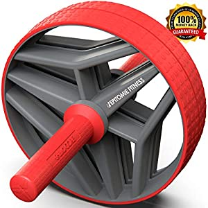 Epitomie Fitness BIO Core Ab Roller Wheel with 2 Configurable Wheels and Non-Slip Handles – Ab Wheel Trainer with Kneeling Mat for Strong Core