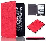 Kepuch Custer Funda para Kindle Paperwhite 1/2/3 2012 2013 2015 2016,Slim Smart Cover Fundas Carcasa Case Protectora de PU-Cuero para Kindle Paperwhite 1/2/3 2012 2013 2015 2016 - Rojo