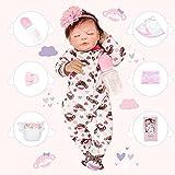 Bebe Reborn Silicona Bebe Reborn Niña Muñecos Reborn Niña Durmiente 22 Pulgadas 55cm Muñecas para Niñas Muñecos Reborn Muñecas Reborn Regalo de Juguete para Niños
