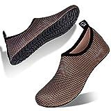 Hombre Mujer Escarpines Zapatillas Agua Zapatos De Agua para Zapatos De Buceo De Playa NatacióN Surf Piscina Zapatos Ligeros De Antideslizante Secado RáPido(xqz.Amarillo Negro,44 EU 45 EU)