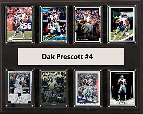 "C&I Collectables NFL Dallas Cowboys Mens 1215PRESCOTT8CNFL 12""x15"" Dak Prescott Dallas Cowboys 8-Card Plaque, Brown, N/A"