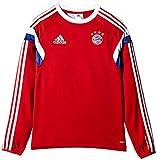adidas - Camiseta de Entrenamiento del FC Bayern Múnich (de Manga Larga, Infantil) Rojo Rojo y Blanco Talla:176