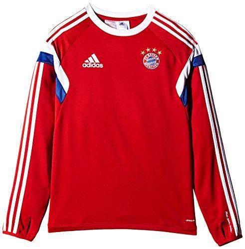 adidas-Maglia da Allenamento, da Bambino, Motivo FC Bayern Monaco Rosso Red - FCB True Red/White 140 (EU)