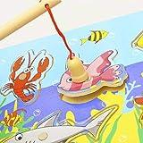 LACKINGONE Rompecabezas de Aprendizaje temprano, Regalo de Entrenamiento de Habilidad, Juguete magnético de Pesca de Madera Creativo