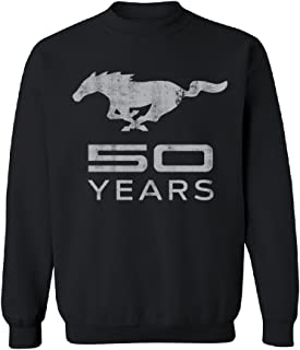Mustang 50 Years Licensed Product Unisex Crewneck Horse Official Ford Sweater