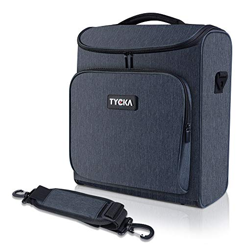 Video Projector Case TYCKA Protective Projector Organizer Bag Shockproof Projector Carrying Case with Shoulder Strap, Accessories Storage Pockets for Projector Device (13,5 x 6,3 x 14,5 inch)