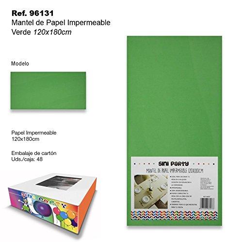 Sini Mantel de Papel Impermeable 120x180cm Verde
