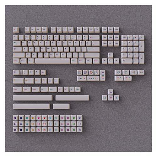 juqingshanghang1 1 Set Buntes Bleistift-Design-Probe weiße Tastencaps für mechanische Tastatur XDA-Profil-Sublimation PBT-Flacher Schlüsselkappe (Color : Pure White keycaps)
