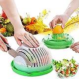 Salad Cutter Bowl,Fruit Vegetable Cut Set,Upgraded Juice Making and Salad Make,Salad Chopper Bowl Fresh Salad Slicer