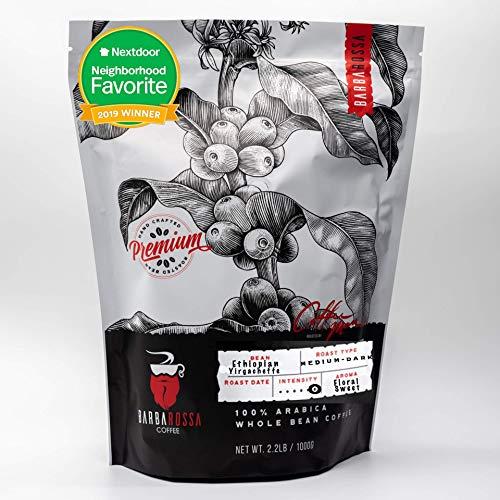 Barbarossa Ethiopian Yirgacheffe Coffee - Premium Quality Handcrafted - Natural Processed | 2019 Neighborhood Favorite Award