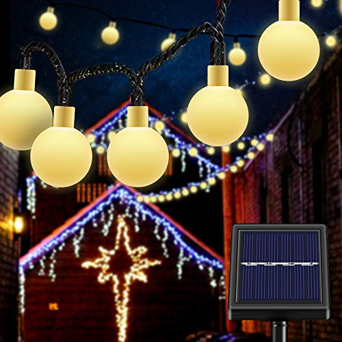 Waterproof Solar String Lights Outdoor Chandelier 50 Bulb...