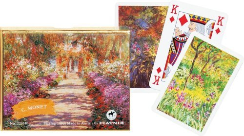 Gibsons Games Piatnik Playing Cards - Monet Gallery - Giverny, double deck
