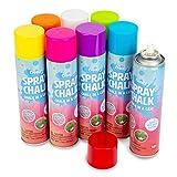 Boley Spray Chalk Paint - 8 Pk 200g Washable Sidewalk Chalk Spray Paint Cans for Kids Ages 8+