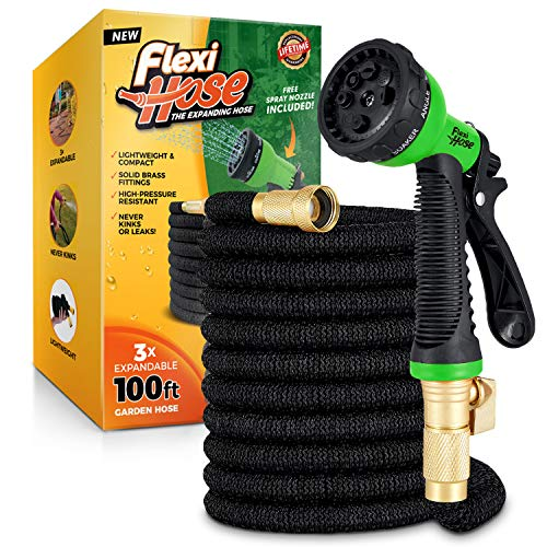 Flexi Hose Upgraded Expandable Garden Hose, Extra Strength, 3/4' Solid...