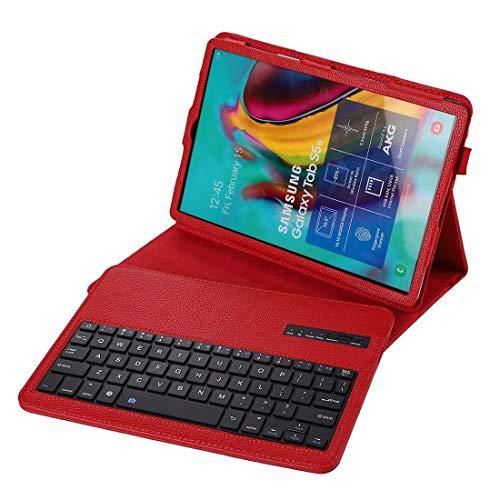 PHONETABLETCASE+ / for Compatible with SAMSUNG Galaxy Tab S6 Lite 10.4 P610 & P615 (2020) / Tab S5E / T720 2 en 1 Clavier Bluetooth détachable + Litchi Texture Cas de protection avec stand et stylo ,