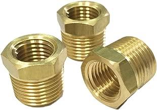 Nigo Brass Pipe Fitting, Hex Bushing (3 Pack, 3/8