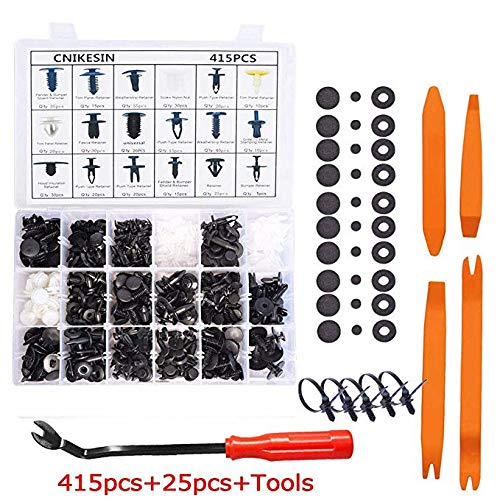 19 Most Popular Sizes for GM Ford Honda Toyota Chrysler AOXNRFA 435 Pcs Car Retainer Clips /& Plastic Fasteners Kit Auto Door Panel Trim Clip Rivets Push Pin