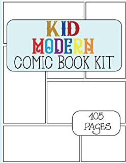 KID MADE MODERN COMIC BOOK KIT: Simple Blank Comic Book For Kids/ Create Your Own Comics With This Comic Book Journal Note...