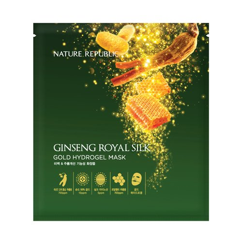 NATURE REPUBLIC GINSENG ROYAL SILK GOLD HYDROGEL MASK 32g * 5EA / ネイチャーリパブリック 人参 ジンセ...