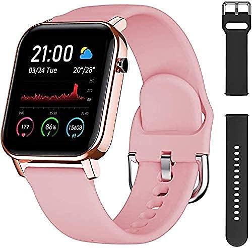 Reloj inteligente inteligente IP68 impermeable y monitor de frecuencia cardíaca, notificación de natación, calorías, podómetro, reloj deportivo, adecu.