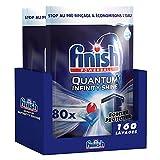 Finish Pastilles Lave-Vaisselle Quantum Infinity Shine – Nettoyage puissant avec une formule de protection spéciale pour les verres, vaisselle et argenterie – pack économique de 160 capsules