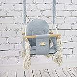 Balancín de bambú para bebé, asiento de bebé, columpio infantil, tela de...