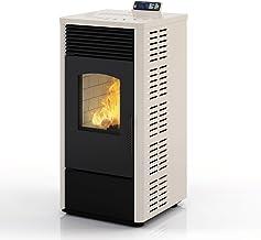 Eldstadhorno de pellets estufa de pellets chimenea 10,9 kW antracita