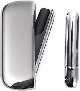 Vimili 対応アイコス 3の電気鍍金ケースに適用 しますiqos キャップルチ IQOS3ケースドアカバー 5色の中から選択できます (ぎんいろ)
