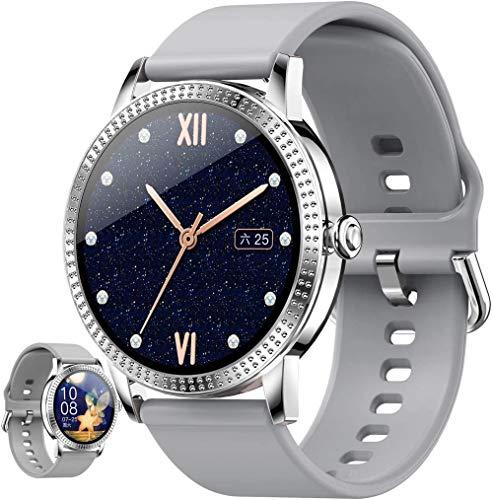 Reloj inteligente IP67 impermeable 1.06 pulgadas pantalla táctil completa Bluetooth fitness tracker con ritmo cardíaco sueño monitoreo SMS notification-C