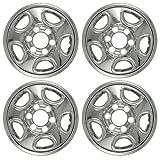 Set of 4 16' Chrome Wheel Skin Hubcap: Chevy (Astro '03 -'08, Silverado '99 -'04, Tahoe '99 -'06) GMC (Sierra) 16x6 Inch 6 Lug Steel Rim: IMP-08X