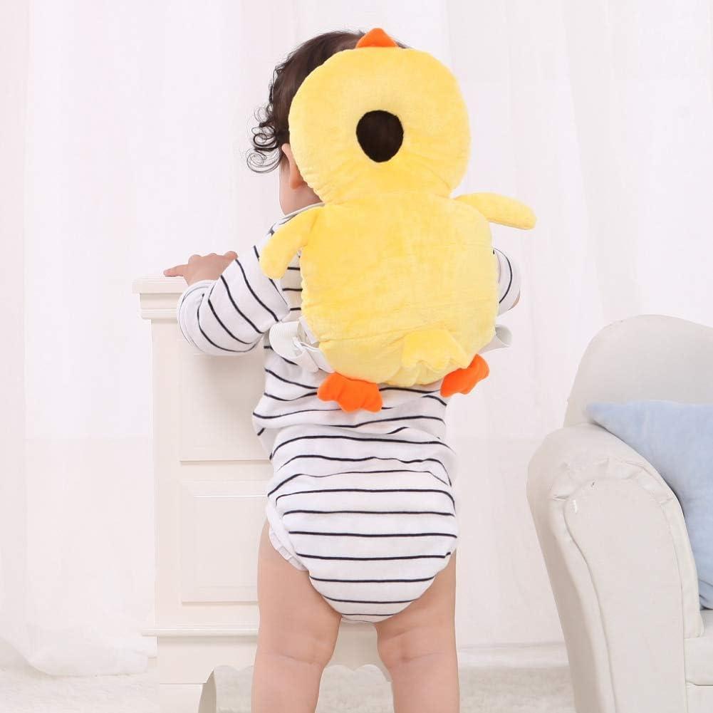 TYUXINSD Lovely Finally resale start Denver Mall Baby Helmet Head He Flat Protector Anti Backpack